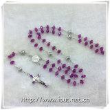 Пластичные цветастые Rosaries шариков, вероисповедный шарик Rosary, Rosary (IO-cr391)