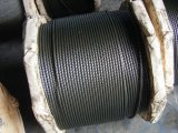 Graisse noire Ungalvanized Steel Wire Rope 6X19s+FC