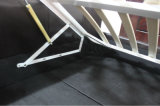 Het zwarte Bed van het Leer van Pu met Latjes baseert Moderne Italiaanse Furnither