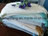 Manovella Herringbone tessuta del cotone con frangia