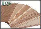 madeira compensada comercial do folheado da natureza de 12mm para a decoração ou a mobília