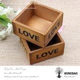 Пользовательские Hongdao деревянные квадратной коробке без крышки оптовой _E