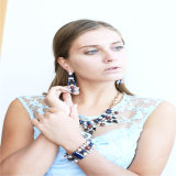 De nieuwe Juwelen van de Manier van de Oorring van de Armband Necklcae van de Juwelen van de Stenen van het Glas van het Punt Vastgestelde