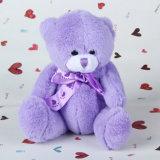 아이들 장난감 선물 아름다운 자주색 색깔 견면 벨벳 장난감 곰 장난감