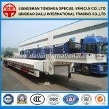 3 Fuwa Ejes Suspensión neumática Transporte de contenedores Semirremolque de plataforma baja