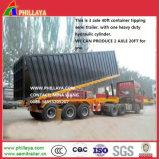 conteneur squelettique hydraulique de 35ton 40feet inclinant semi la remorque
