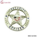 La police en gros d'argent d'alliage Badge (LM1065)