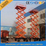 ascenseur mobile de ciseaux de plate-forme hydraulique de 300-500kg 10m-15m