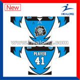 Jersey de vente chauds de hockey sur glace de Juniorl de sublimation d'habillement de vitesse de sports de Healong