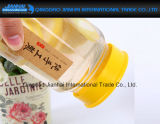 Белая стеклянная материальная воздухонепроницаемая восьмиугольная бутылка меда