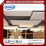 Panneaux de plafond décoratifs de salle de tissu commercial de fibre de verre