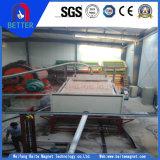 Separador magnético permanente plano de alta intensidad de Seprator para la potencia del mineral/de la mica de hierro/el cuarzo/la limonita/la magnetita débil