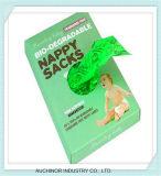 使い捨て可能なプラスチック薄い袋によってカスタマイズされるカラー赤ん坊のおむつのおむつ袋