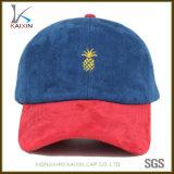 Bordado no estructurado de la gorra de béisbol del ante de los sombreros al por mayor del papá