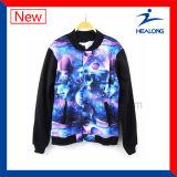 기어가 Healong Fahshion 디자인에 의하여 어떤 로고 승화 남자든지 야구 재킷