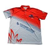 Chemise de polo de T-shirt de polyester avec le bon modèle