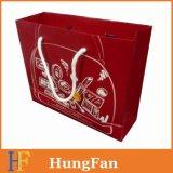Зеленая многоразовая бумажная хозяйственная сумка с логосом Hotstamping золота