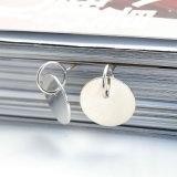 Il piccolo tondo vuoto placcato argento semplice ciondola gli orecchini di goccia dei pendenti