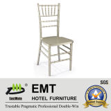 Chaise en bois professionnelle de mariage argenté (EMT-807 en bois)