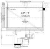 5 Scherm van de Vertoning van de duim TFT LCD 800X480 RGB 40pin 800CD/M2 TFT LCD