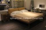 2017 de Italiaanse Moderne Houten Slaapkamer van het Leer Koningin Bed