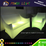 Muebles Plásticos brillantes sofá 2 plazas LED