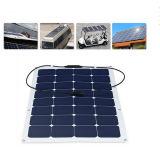 Flexibler Sonnenkollektor 2017 der Fabrik-Angebot-Qualitätsgarantie-100W halb 18V