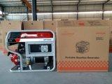 портативный генератор газолина 6.5kw с большими пневматическими колесами 4X и поднимаясь крюком