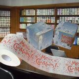 Le Joyeux Noël a estampé le roulis de tissu de salle de bains de nouveauté de papier de toilette