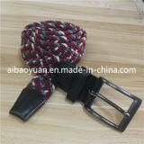 Cinghia intrecciata rossa e grigia del Knit dei filati di poliestere