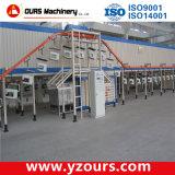 Estructura de acero/cadena de producción de la capa del polvo de los marcos
