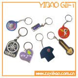 사업 선물 (YB-PK-02)를 위한 주문 로고 PVC 열쇠 고리