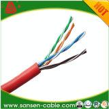 Cable de LAN de la chaqueta UTP Cat5e de LSZH/cable de la red con el Ce RoHS ISO9001