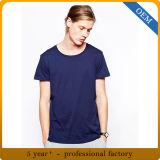 Le T-shirt bleu des hommes de vente en gros de prix usine