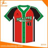 Sublimación completa china cualquie béisbol modificado para requisitos particulares insignia Jersey