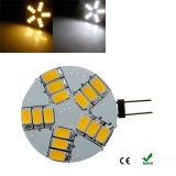 Bulbos do ponto do diodo emissor de luz dos projectores DC12V do diodo emissor de luz de MR11 G4 4W 15PCS 5730SMD