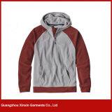 Rivestimento poco costoso Hoody (T87) del pullover del panno morbido del poliestere dello spazio in bianco del commercio all'ingrosso della fabbrica di Guangzhou
