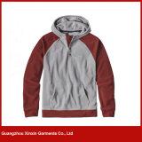 Guangzhou Factory atacado em branco barato Polyester Fleece Pullover Jacket Hoody (T87)