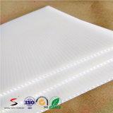 Strati di plastica ondulati bianchi di colore pp per fare pubblicità