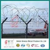Des Sicherheits-Flughafen-Fence/Y Kettenlink-Ineinander greifen-Flughafen-Zaun Pfosten-Stahldes zaun-8FT
