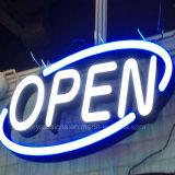 LEIDEN van de Winkel van de LEIDENE Opvlammend Koffie van het Teken Open Teken