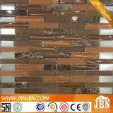 台所ボーダーEmperadorおよび焦茶のガラスモザイク(M857003)