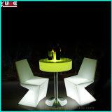 LLDPEのPE LEDの庭の照明ホテルの家具棒椅子