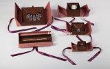 Rectángulos de empaquetado de la fabricación de la fábrica de la alta calidad de la joyería de lujo directa del regalo para el conjunto de la joyería