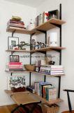 Estante de canto para móveis de sala de estar em madeira