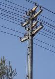 Línea de transmisión eléctrica de la potencia torre del acero
