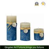 Tallado vela del pilar con el patrón en relieve en la superficie de la decoración del hogar