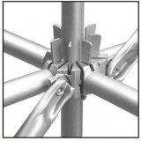 Costruzione Steel Less Weight Used Standard Painted/Galvanized Frame Scaffolding per il sistema di appoggio