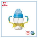 Botella de alimentación del bebé PPSU a prueba de calor con la manija del color del doble