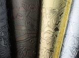 Couro barato do plutônio do PVC para decorativo (tg010-1)